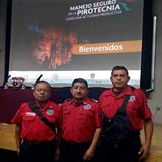 Participan bomberos de Tlaxcala en conferencia del Cenapred