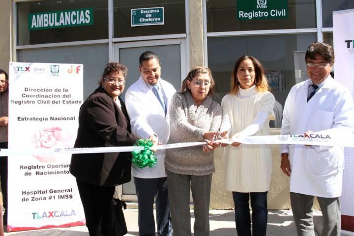 Inauguran módulos de registro civil en hospitales