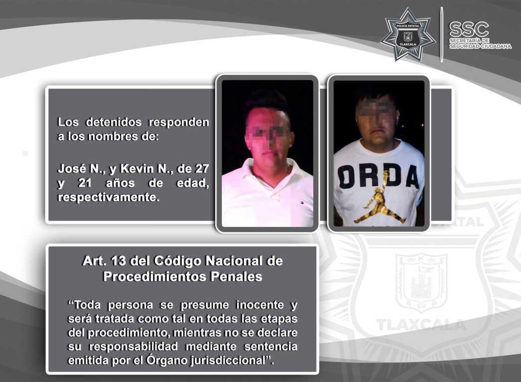 Detienen en Tenancingo a dos personas por intento de asalto a transporte de carga