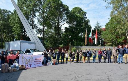 Envía UAT más de 4 toneladas de ayuda para damnificados