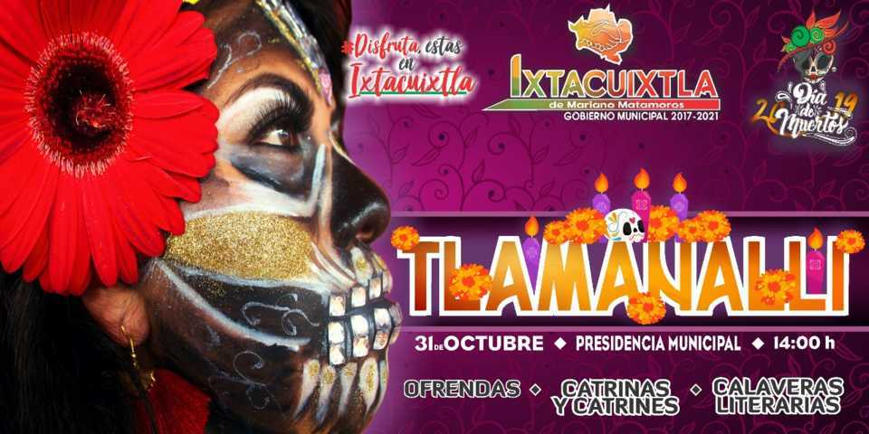 Este 31 de octubre llega Tlamanalli con catrinas, ofrendas y calaveras literarias