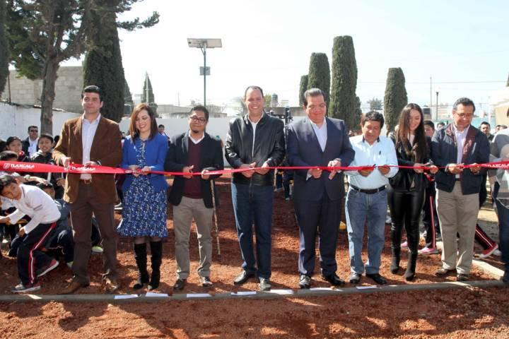 Inauguran en Huamantla Centro de Acondicionamiento Físico Vive tu Parque