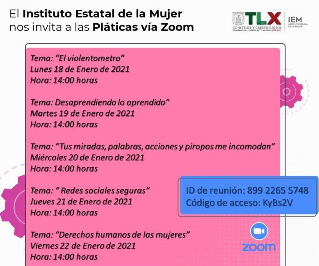 Inicia IEM ciclo de conferencias virtuales dirigidas a mujeres