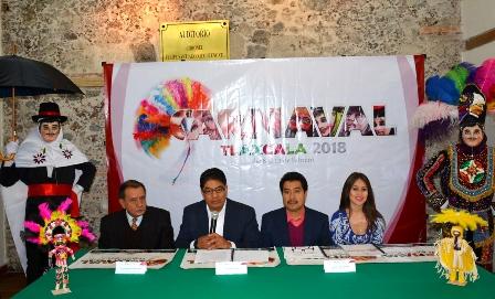 Presenta Secture Carnaval Tlaxcala 2018 en la Ciudad de México