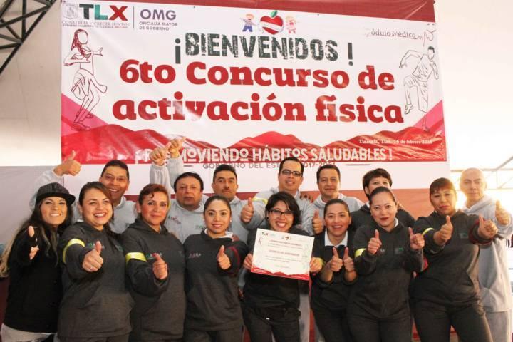 Realiza Oficialía Mayor Sexto Concurso de Activación Física