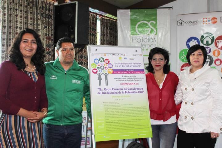 Presenta Coespo segunda carrera de convivencia del Día Mundial de la Población
