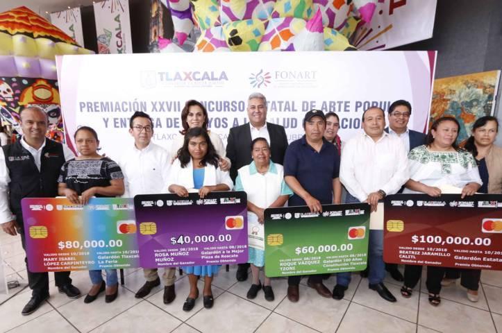 Encabeza Sandra Chávez premiación del Concurso Estatal De Arte Popular 2018