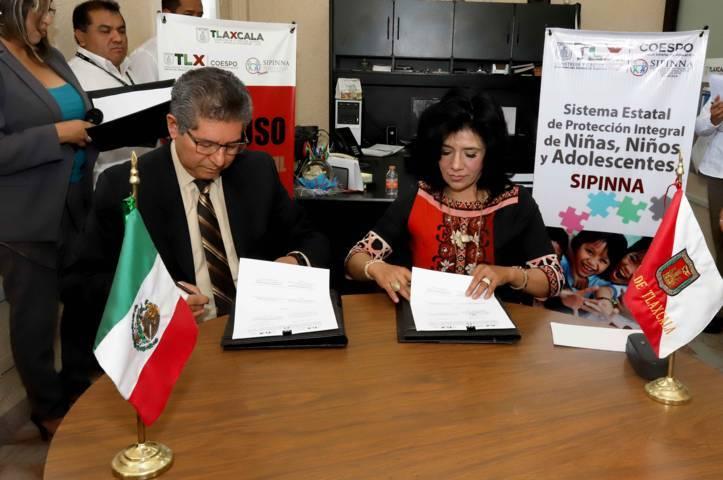 Acuerdan Coespo e ITEA protección conjunta de derechos infantiles