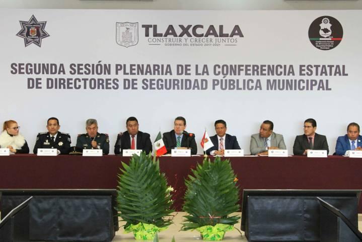 Marco Mena encabeza conferencia con  directores de Seguridad Municipal