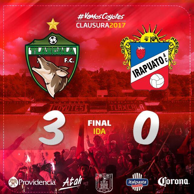 Ganan Coyotes 3 goles a 0 contra Irapuato