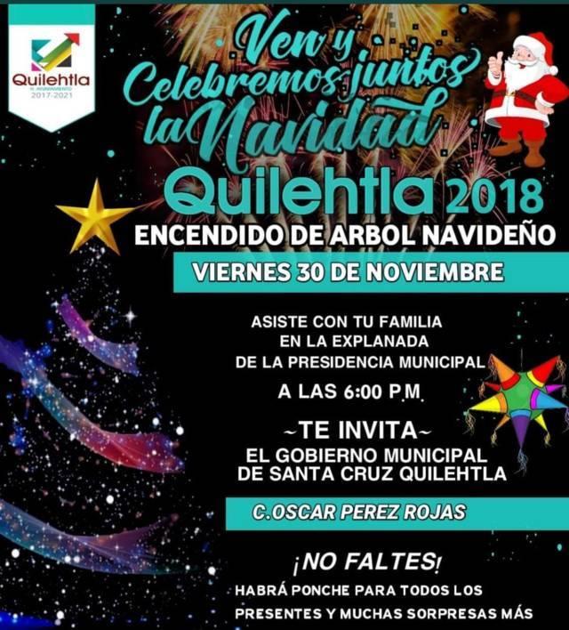 Pérez Rojas encenderá el árbol de navidad este 30 de noviembre