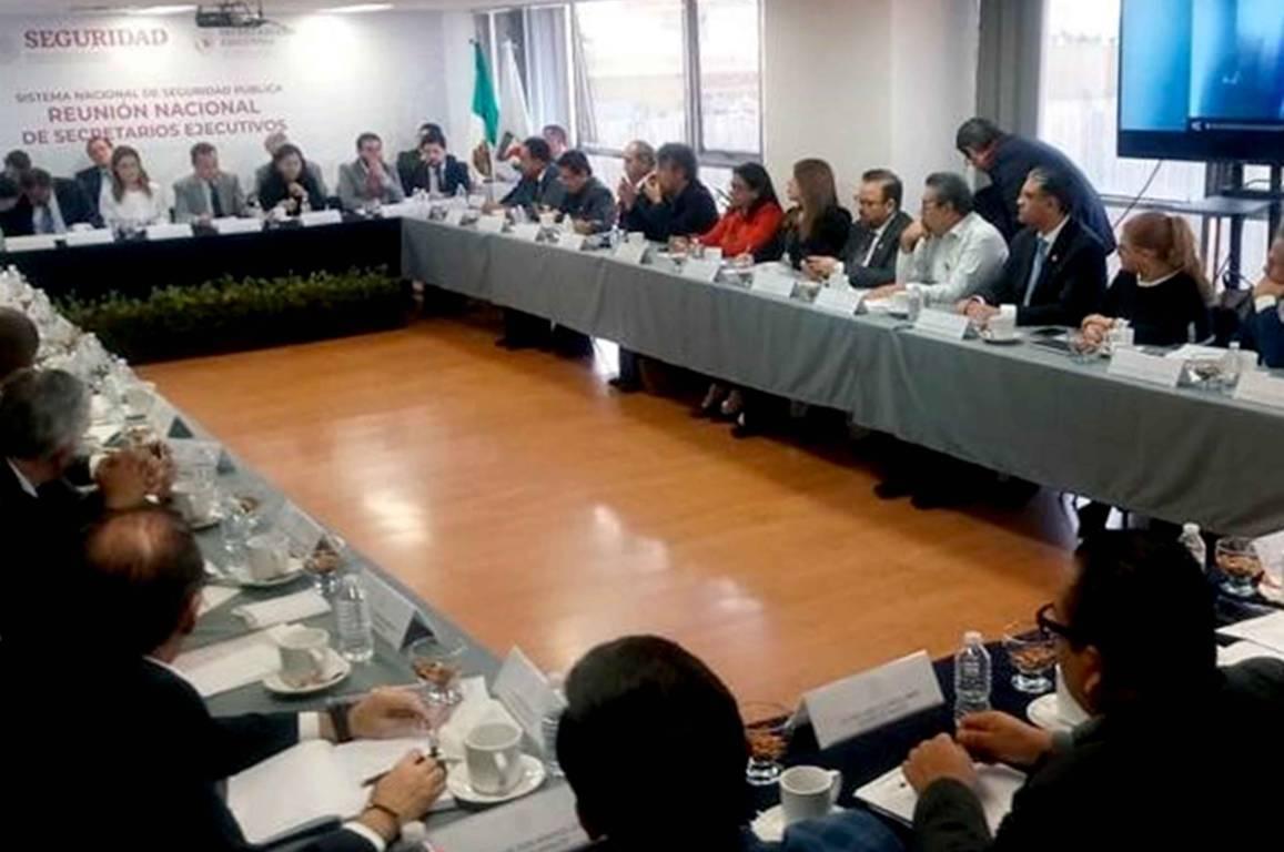 Participa Tlaxcala en Primera Reunión Nacional de Secretarios Ejecutivos de Seguridad Pública