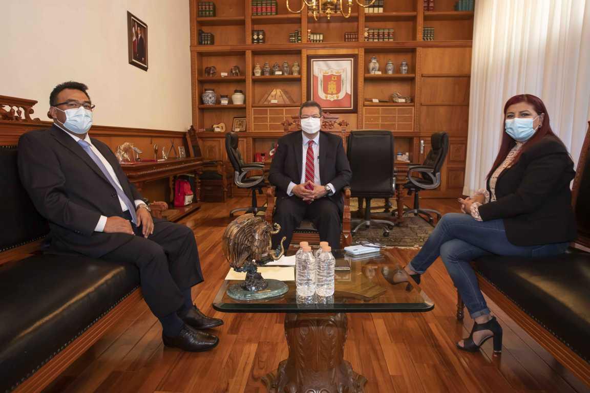 Marco Mena ratifica trabajo institucional con el Congreso del Estado