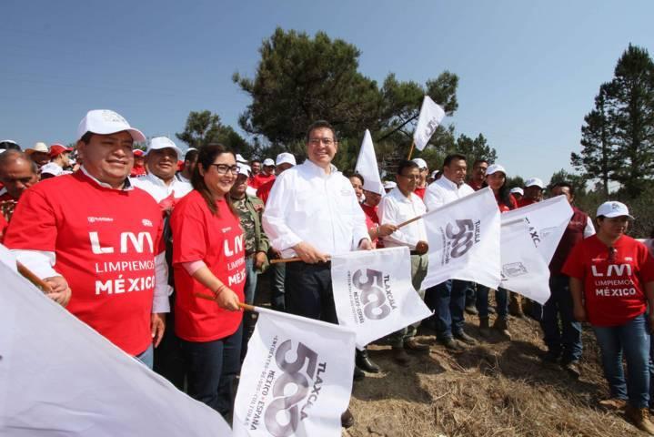 Encabeza Marco Mena jornada Limpiemos México - Tlaxcala 2019