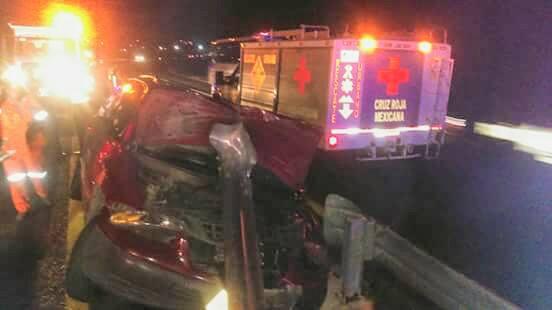 Dos lesionados deja accidente en la Tlaxcala- Texmelucan