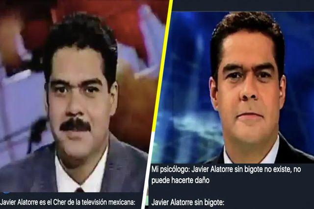 Causa furor en redes sociales Javier Alatorre sin bigote