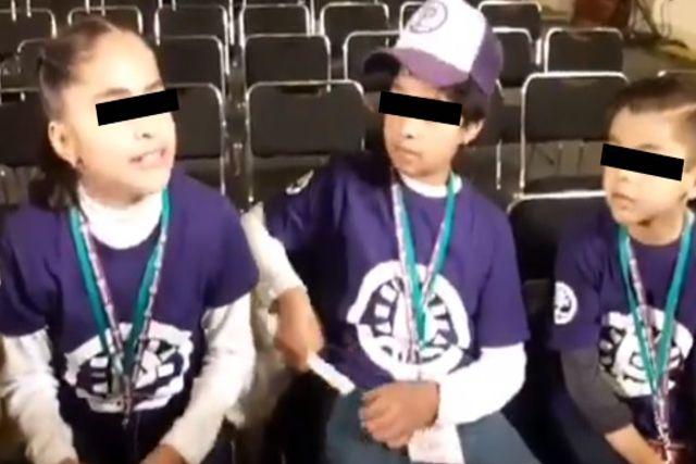 Niños reporteros fueron ignorados por AMLO en la mañanera