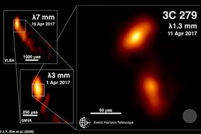 Registran fenómeno de materia emergiendo de un agujero negro