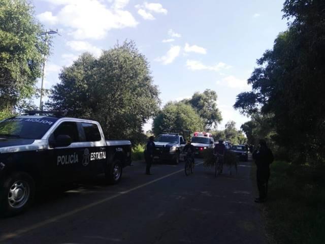 Enfrentamiento entre huachicoleros y policías deja dos herido de bala en Nativitas