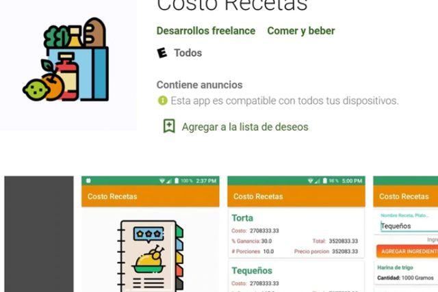 Crean App capaz de calcular el costo de una receta y las ganancias de un plato