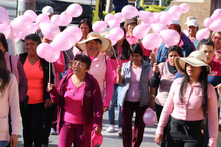 Se une Xicohtzinco a la lucha contra el Cáncer de mama