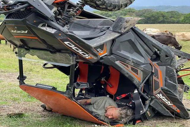 Sufre aparatoso accidente automovilístico el actor Fernando Carrillo