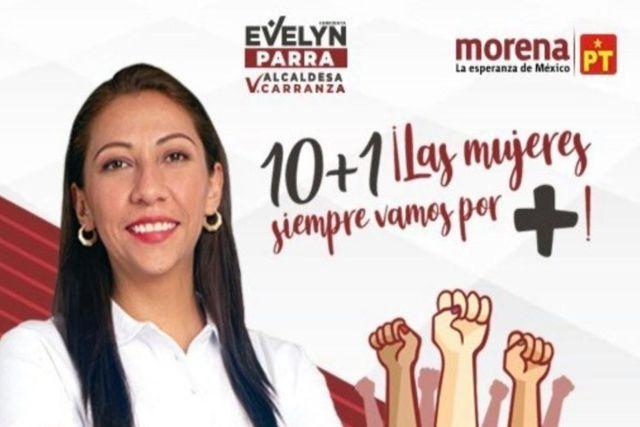 Candidata de Morena regaló a las madres tarjetas para comprar pizza y regalos de Sanborns