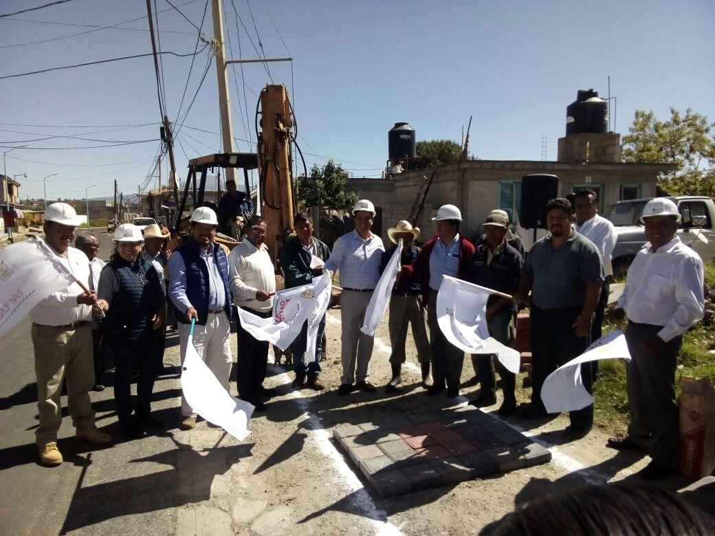 Murias Juárez da banderazo de inicio de obra en la avenida San Martin