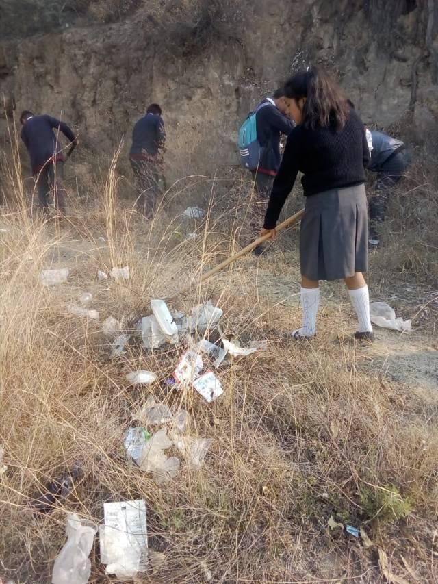 Ayuntamiento y CONALEP realizan acciones de reforestación y limpieza en el municipio