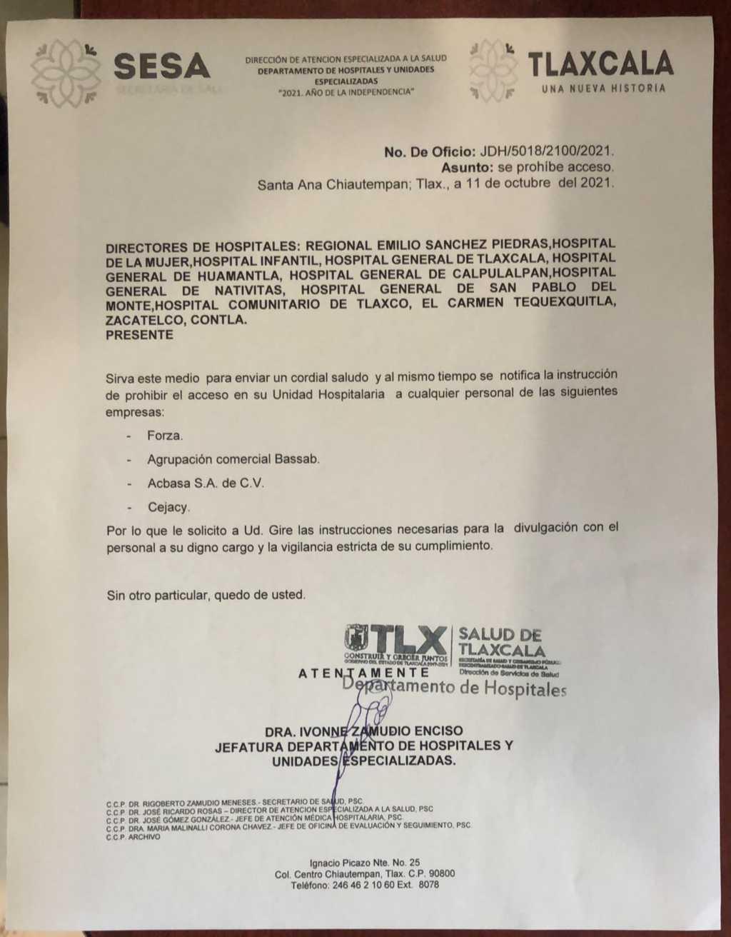 Empresa de Marianito llega a SESA; cierran la puerta a otras