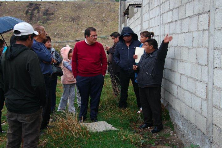 """El Presidente Municipal de Huamantla recorrió el fraccionamiento """"La Estación"""""""