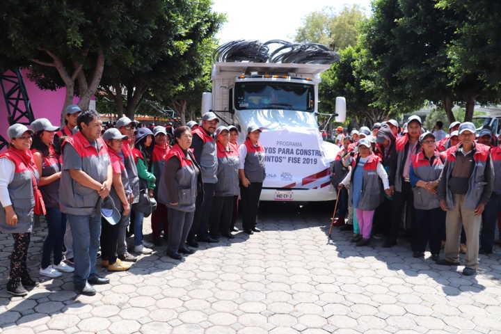 Participa Xicohtzinco en arranque del programa Apoyos Para Construir Juntos