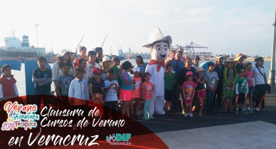En el puerto de Veracruz finalizaron los cursos de verano de Tecopilco 2019