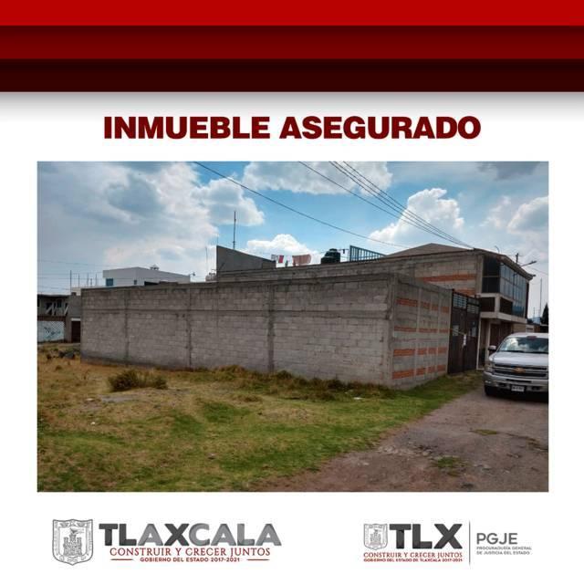Asegura PGJE inmueble con 35 cabezas de ganado en Tlaxco