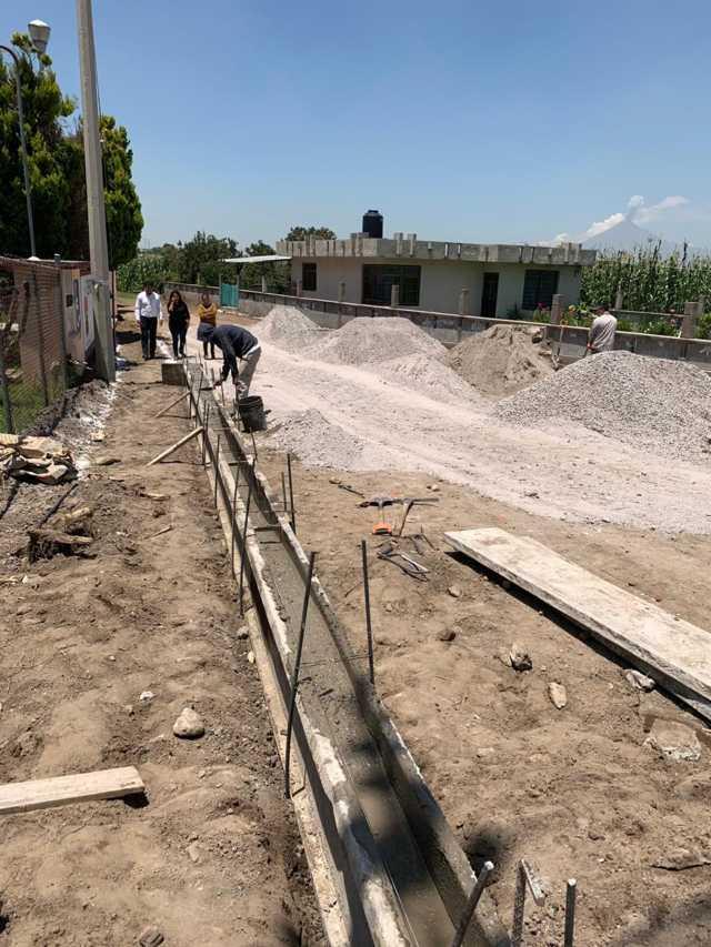 Más del 50% de avance en obra pública en Xicohtzinco
