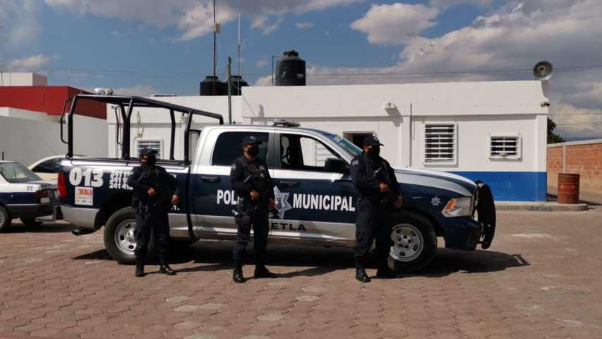 Sin casos de Covid -19  en policía de Tetla