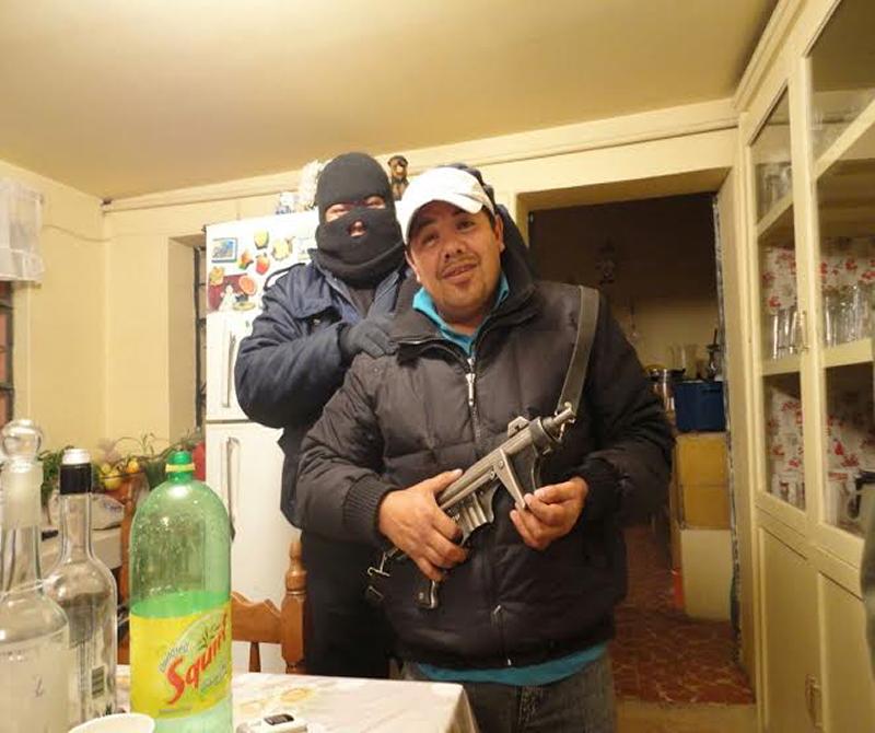 Presume armas regidor de Santa Cruz
