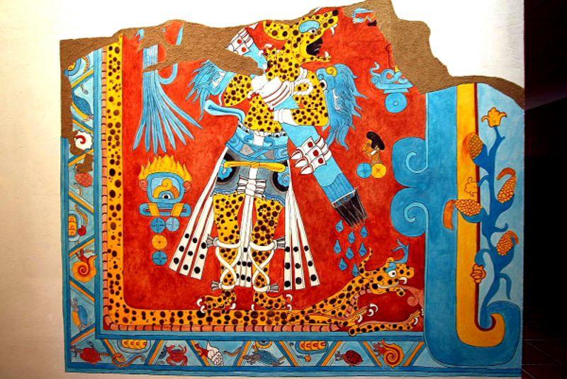 El hombre jaguar reina en cacaxtla e for El mural de bonampak