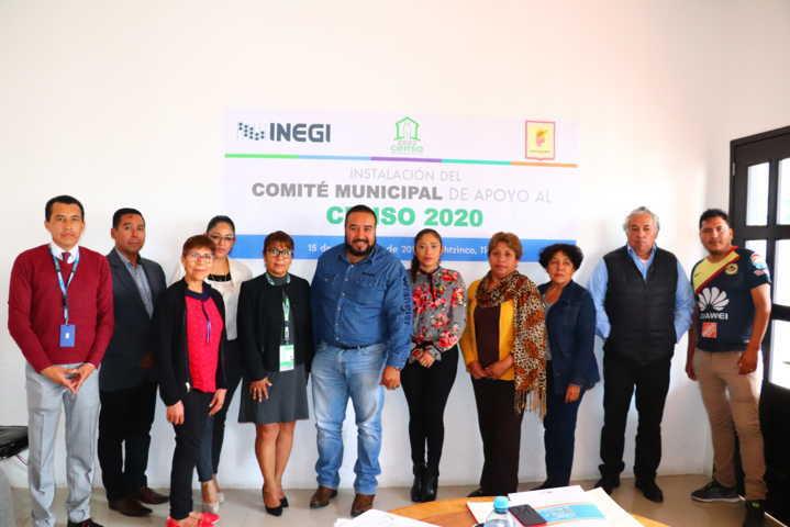 Se instala Comité Municipal de Apoyo al Censo 2020 en Xicohtzinco