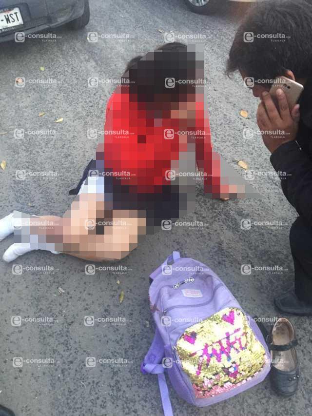 Menor de edad es atropellada por taxista de Contla en Apetatitlan
