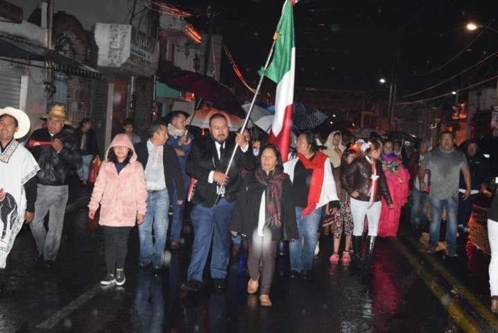 Alcalde Badillo Jaramillo da su 2do grito de Independencia