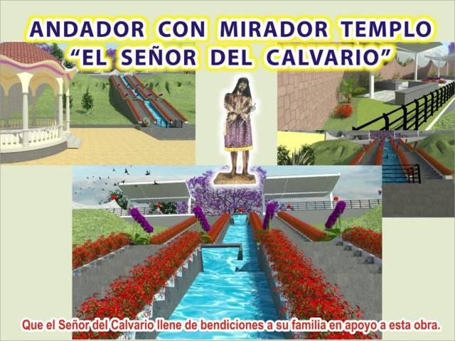 Desampedro López contribuyo con 50 mil pesos para el andador y mirador del templo