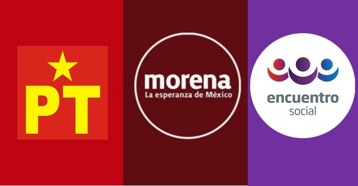 Registran coalición Morena, PT y PES sin acuerdos que podrían orillar a la ruptura