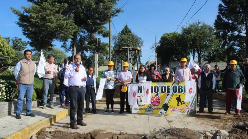 Alcalde mejora los servicios básicos y la imagen urbana de la calzada Guadalupe
