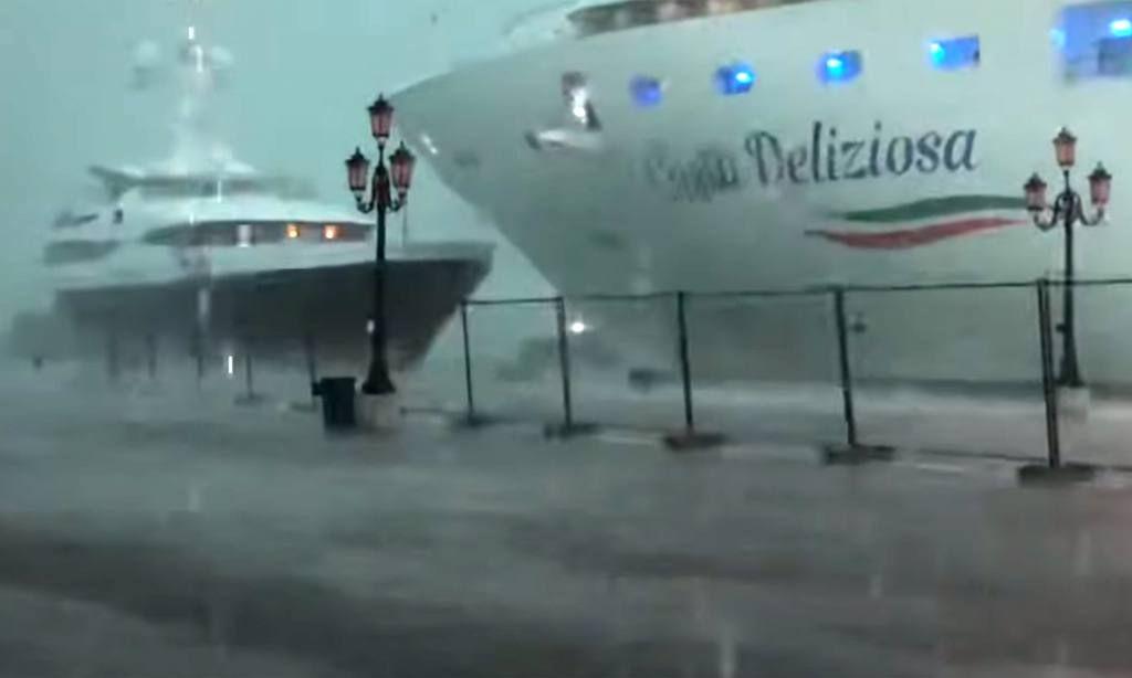 Pánico causó un crucero al perder el control y casi chocar contra un yate turístico