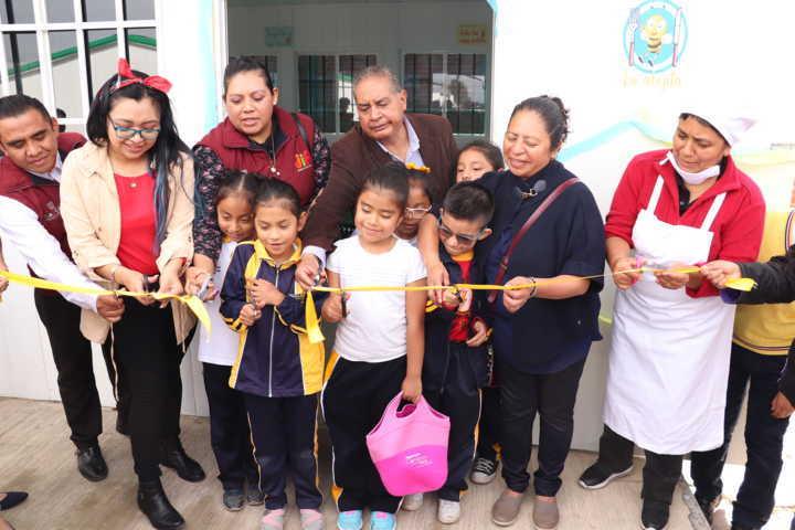 Se inaugura comedor escolar en Xicohtzinco