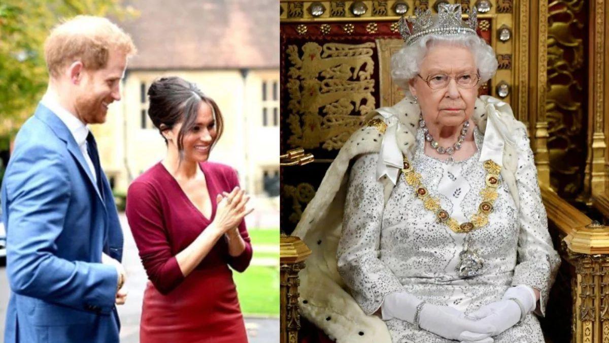 ¡Huyen! Meghan y Harry hacen enfurecer a la Reina Isabel II y les impone un castigo