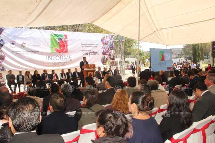 Somos un gobierno de resultados 61 obras lo dicen: Domínguez Rugerio