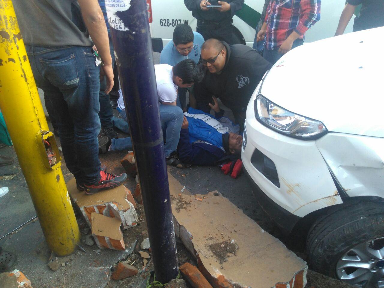 Lesionado comerciante al ser atropellado en la capital