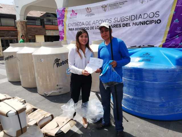 Beneficia a 18 familias entrega de apoyos subsidiados en Xicohtzinco